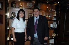Лэй Хун встретилась с руководством ЛаЛиги