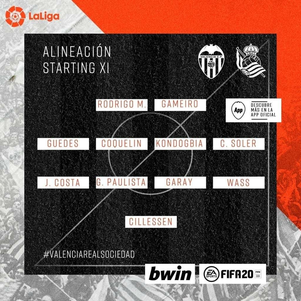 1-й тур. Валенсия 1 - 1 Реал Сосьедад