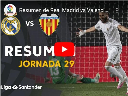 29-й тур. Реал Мадрид 3 - 0 Валенсия