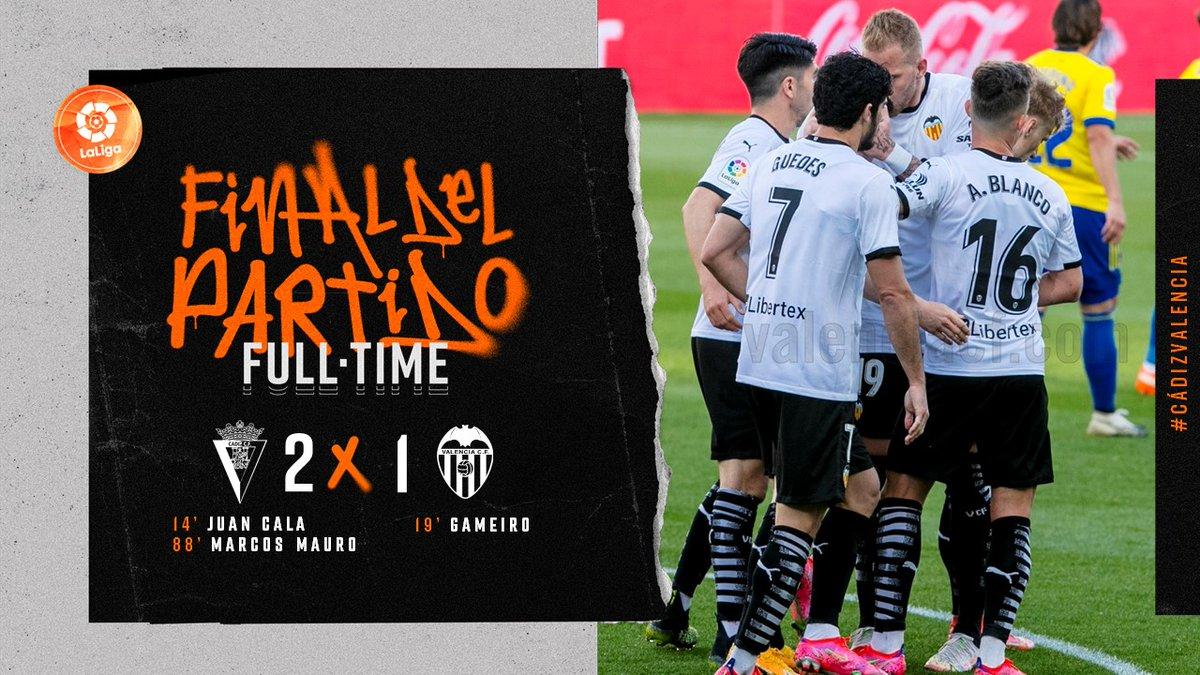 29 тур. Кадис 2-1 Валенсия