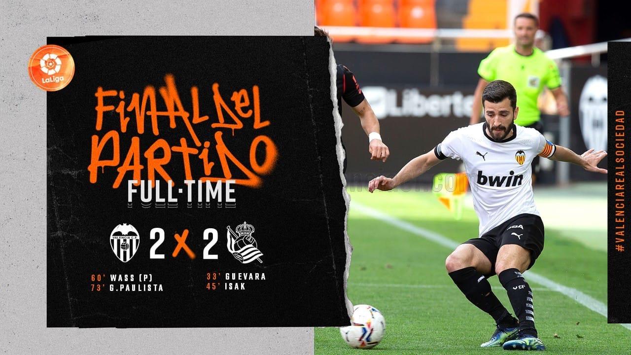 30 тур. Валенсия 2-2 Реал Сосьедад