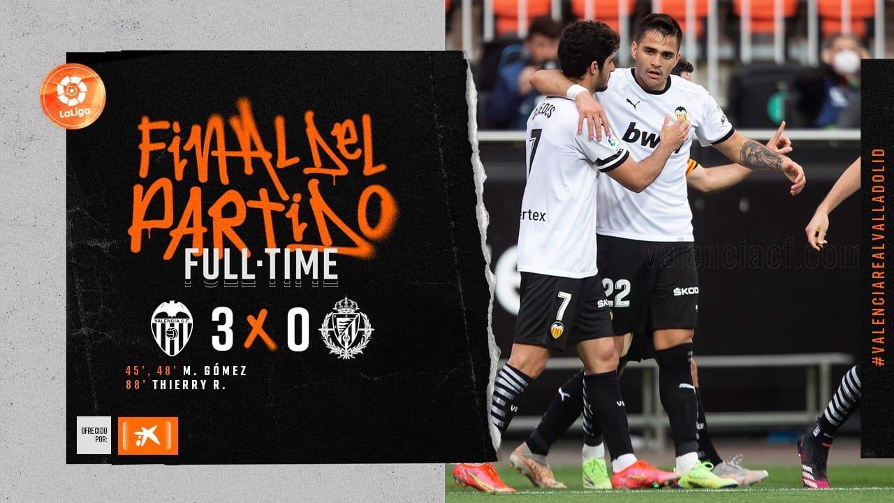 35 тур. Валенсия 3-0 Вальядолид