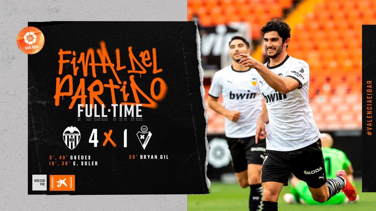 37 тур. Валенсия 4-1 Эйбар